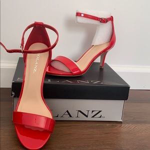 Red Patton heels